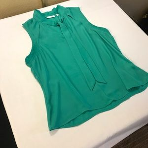New York & Company | Green Tie Neck Top